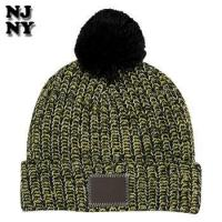 Buy cheap winter seamless striped slouch pom beanie hat from wholesalers