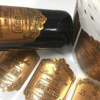 China Embossed Bottle Label on sale