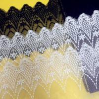 Quality Golden Knit 9.5cm Width Cotton Tulle Embroidery Lace for Clothes Accessory DL41823# wholesale