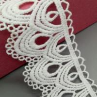 China Golden Knit 5cm Embroidered lace cotton lace water soluble lace qd002# on sale