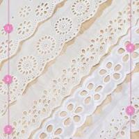Quality Golden Knit 5cm Wide Water soluble lace cotton lace embroidered lace ht080# wholesale