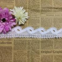 Quality Golden Knit 4.5cm Width Water-soluble lace milk silk barcode single-sided wave hollow embroidery wholesale