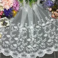 Quality 45cm Width Decorative Accessories Water Soluble Cotton Embroidery Lace xz085-45# wholesale