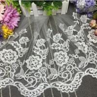Quality 35cm Width Water-soluble Embroidery Curtain Decorative Tulle Lace MX21# wholesale