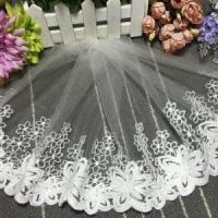 Quality 25cm Width Lace Manufacturers Selling Cotton Embroidery Curtain Lace Trim 720585# wholesale
