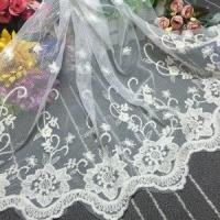 Quality Manufacturers Selling Cotton Lace Embroidery Curtain Decorative Lace XZ013# wholesale