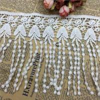 China 9.5cm Width Water Soluble Macrame Lace Trimming for Dress Curtain N17# on sale