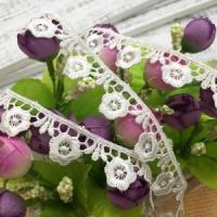 China 2cm Width Lace Trim Daisy Floral Chemical Lace Trimming 93177# on sale
