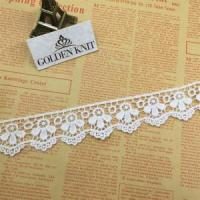 Quality Golden Knit 3.5cm Width Embroidery Small Beauty High Quality Lace Trim HXP010# wholesale