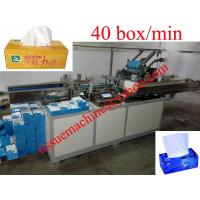 China Fully Automatic High Speed Facial Tissue Paper Cartoning Box Packaging Machine on sale