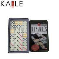 Quality toy series double 6 colored dot with tin box wholesale