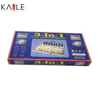Buy cheap toy series Middle 3 in 1 chess game set with wooden box from wholesalers