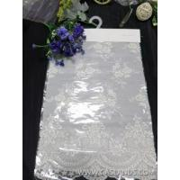 Quality Designer white floral beaded lace fabric 12HAND011 wholesale