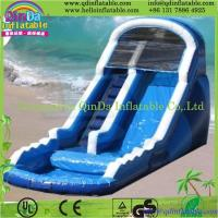 China QinDa combo games and inflatable bouncer/inflatable slide castle--Jumping slide on sale