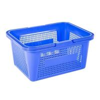 China Plastic Basket with Handle on sale