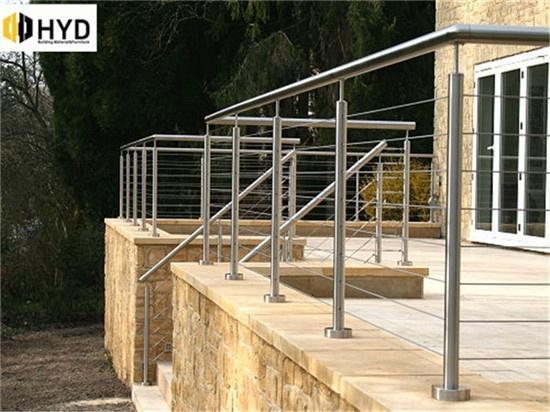 China South America popular low cost galvanized steel deck /balcony cable railing system