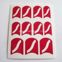 Wholesale fashion curved line nail art design nail stencil