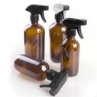 China Amber Glass Bottle With Black Trigger Spray on sale