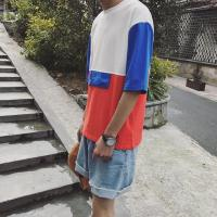 Quality Custom Design Your Own New Model Cotton Jersey Color Block Stylish Hip Hop T-Shirts wholesale