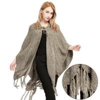 Buy cheap Women's Knit Hooded Ruana from wholesalers