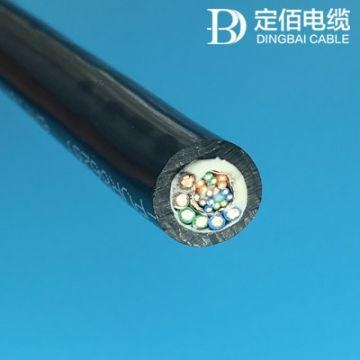 Cheap Anti-oxidation Pur Cable Black 7.5D for sale