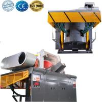 China electric induction scrap aluminum smelter on sale