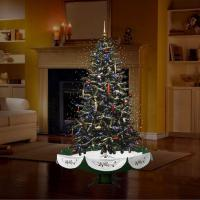 China Snowing Christmas Tree with Umbrella Base and Skirt on sale