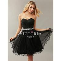 Quality Cute Black Lace Tulle A-Line Short Sweetheart Prom Dress wholesale