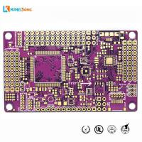 China Purple Solder Mask 4 Layers Gold Plated PCB Board Fabrication Services on sale