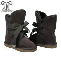Quality Popular Girls Kids Brown Leather Boots wholesale