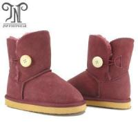 Quality Kids children's burgundy leather boots shoes wholesale