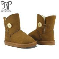 Quality Toddler girl kids brown boots in fur lining wholesale