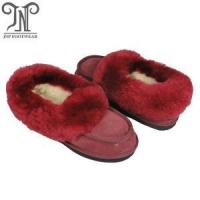Quality Good quality women's indoor moccasin lambskin slippers wholesale