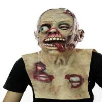 Quality Halloween Horror Props Disgusting Rotten Face Bloody Zombie Mask wholesale