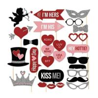Quality 27 Pcs DIY Photography Photo Booth Prop for Wedding Selfie Accessory wholesale