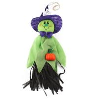 Quality 1 Pc 33x17cm Cute Ghost Hanging Hangtag Halloween Decoration green wholesale