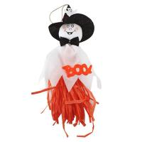 Quality 1 Pc 33x17cm Cute Ghost Hanging Hangtag Halloween Decoration white wholesale
