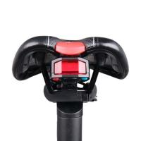 Quality Rear Light+Anti-theft Alarm USB Charge Control LED Tail Lamp Bike A6 wholesale