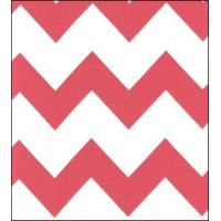 Quality Coral Chevron Oilcloth Fabric wholesale