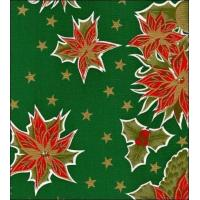 Quality Christmas Stars Green Oilcloth wholesale