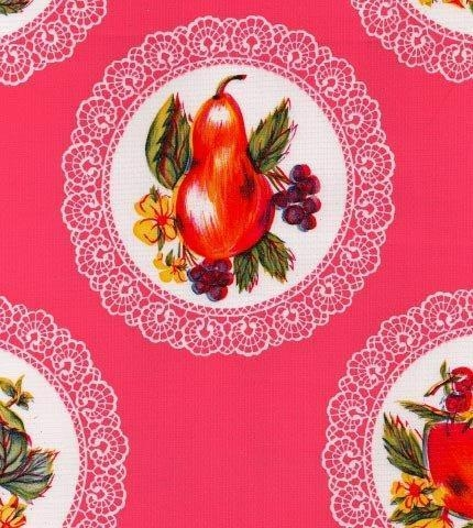 Cheap Doily Pink Oilcloth for sale