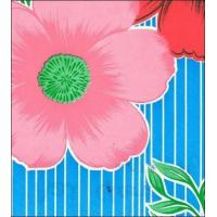 Buy cheap Big Flowers and Stripes Light Blue Oilcloth from wholesalers
