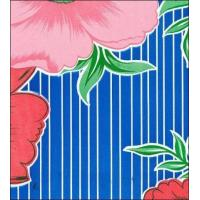 Buy cheap Big Flowers and Stripes Blue Oilcloth from wholesalers
