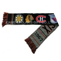 Quality Spandex Jacquard Sports Knitted Fan Scarf wholesale