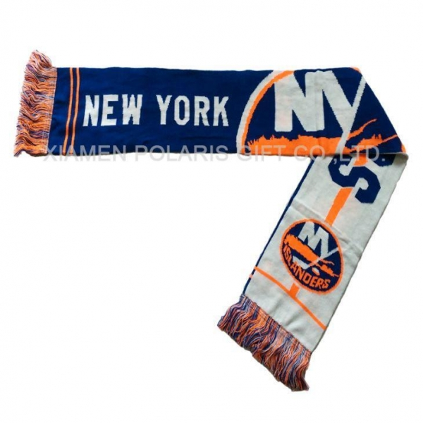 Cheap Soccer Jacquard Knitted Scarf for sale