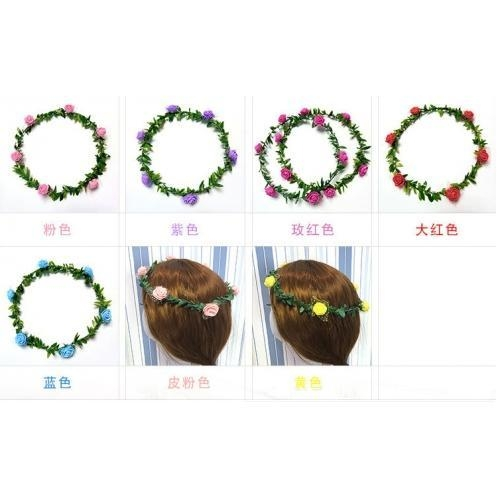 Cheap beautiful romantic ribbon different color of garland floral hoop wreaths for sale
