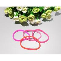 Quality cheap hot sale bright color hair circle varied style elastic rubber hair band women bandeau wholesale