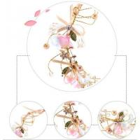 Quality beautiful ribbon different color of garland floral hoop wreaths wholesale