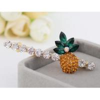 Quality Cute One-line Alloy Diamond-encrusted Pineapple Series Hair Clip wholesale