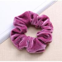 Quality black pink yellow red blue green grey velvet elastic hair bands for girls wholesale